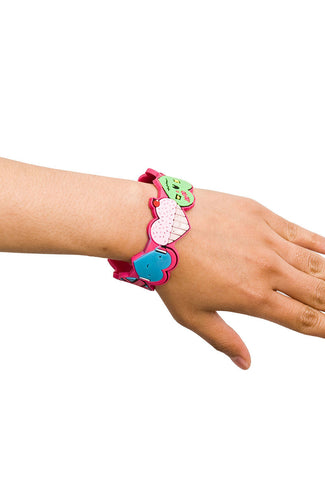 Heart Noggins PVC Bracelet with Flash Drive