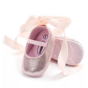 Ribbon Wrap Baby Shoe
