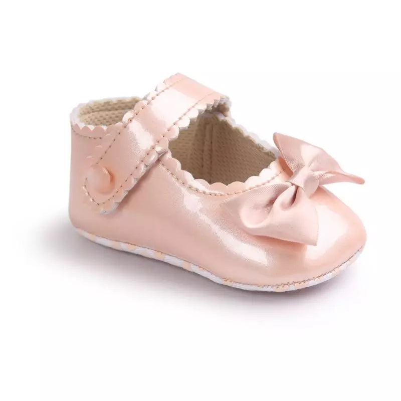 Bow Patent Baby Shoe