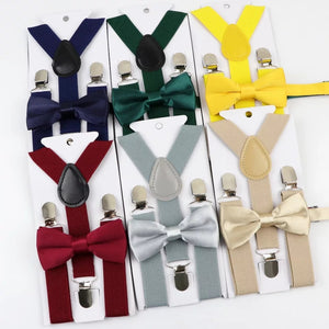 Bow Tie Suspenders Set