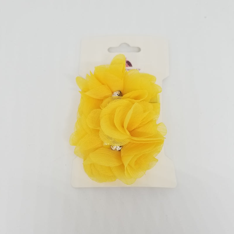 Double Chiffon Flower Hair Clips