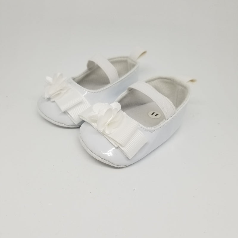 White Patent Baby Shoe