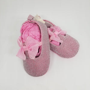 Pink Shimmer Baby Shoe