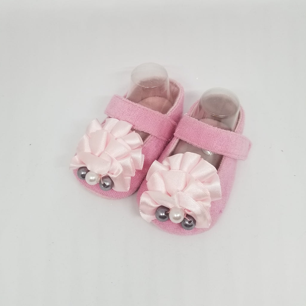 Satin Ruffle Baby Shoe