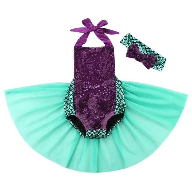 Mermaid Romper Set - 12M
