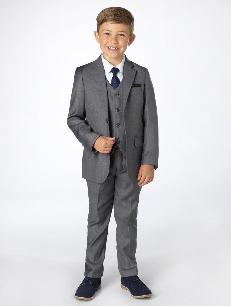 Boys 5 Piece Formal Suit - Grey