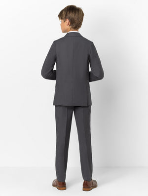 Boys 5 Piece Formal Suit - Dark Grey