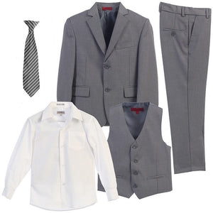 The James - Light Grey 5 Piece Suit