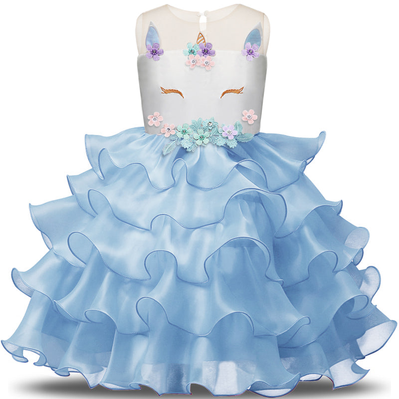 Unicorn - Organza - Blue