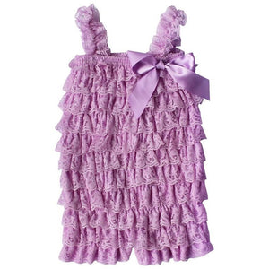 Ruffled Lace Romper - Lilac