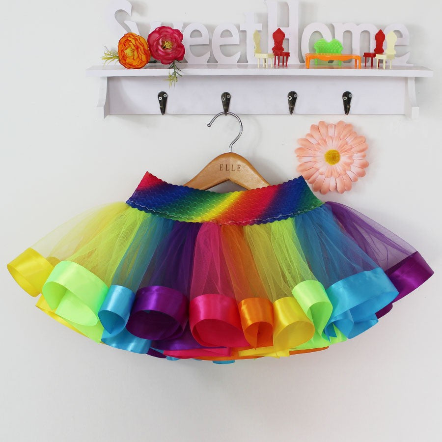 Rainbow Tutu Cover Up