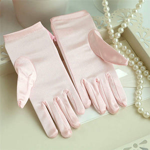 Girls Short Gloves