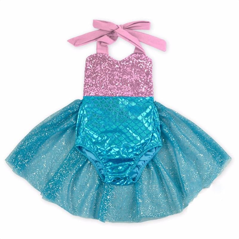 Mermaid Romper - Pink 12M