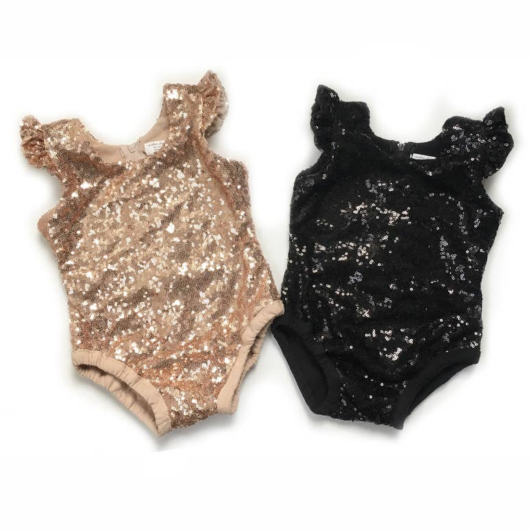 Blush Flutter Sequin Bodysuit