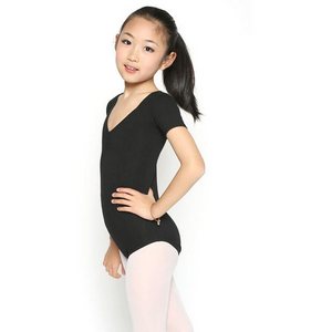Short Sleeve Cotton Stretch Leotard