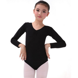 Long Sleeve Cotton Stretch Leotard