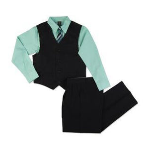 The Jacob - 4 Piece Suit Set - Black