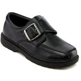 Boys Shoe Side Buckle Black