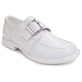 Boys Shoe Side Buckle White