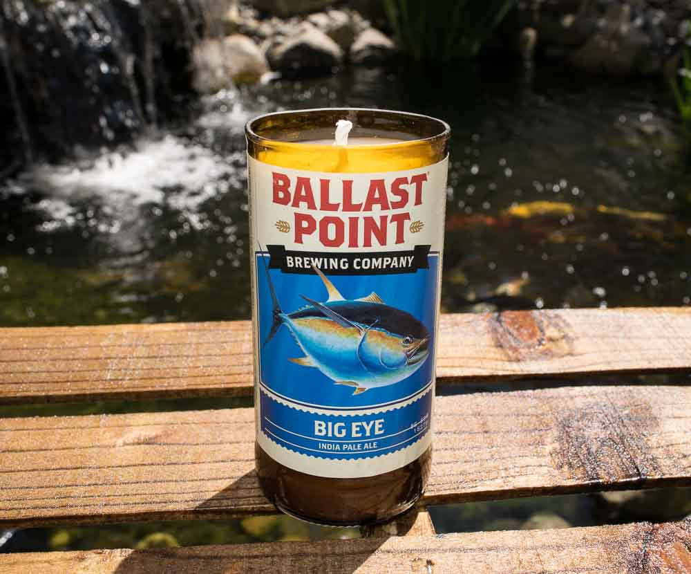 Ballast Point Brewing Company Big Eye IPA Beer Bottle Candle