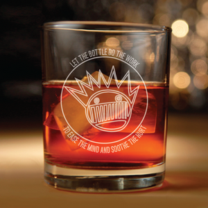 Ween inspired rocks glasses with Booze me up and get me high lyrics engraved Set of 2(Ween, Booze me up and get me high, Boognish)