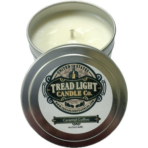 4 oz Scented Soy Candle in recycled aluminum travel tin