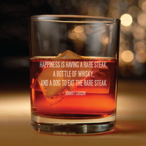 Johnny Carson quote about whiskey glass