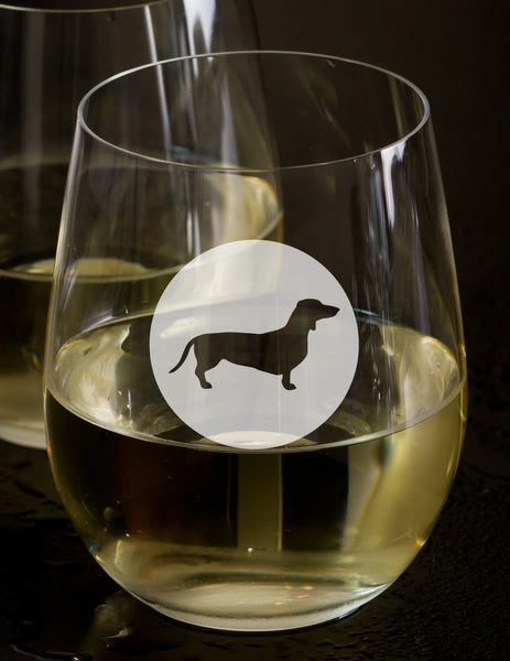 Dog Lover Gift (Dachshund) - Dog Breed beer wine and whiskey glasses(all breeds available)