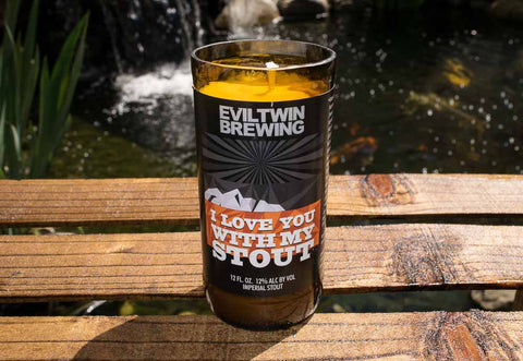 Evil Twin Brewing I love You With My Stout Beer Bottle Scented Candle