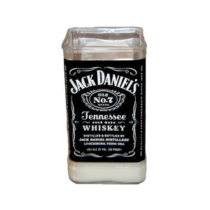 Jack Daniels Tennessee whiskey upcycled soy candle