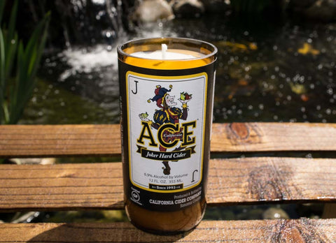 California Cider Company: Ace Joker Hard Cider Beer Bottle Candle