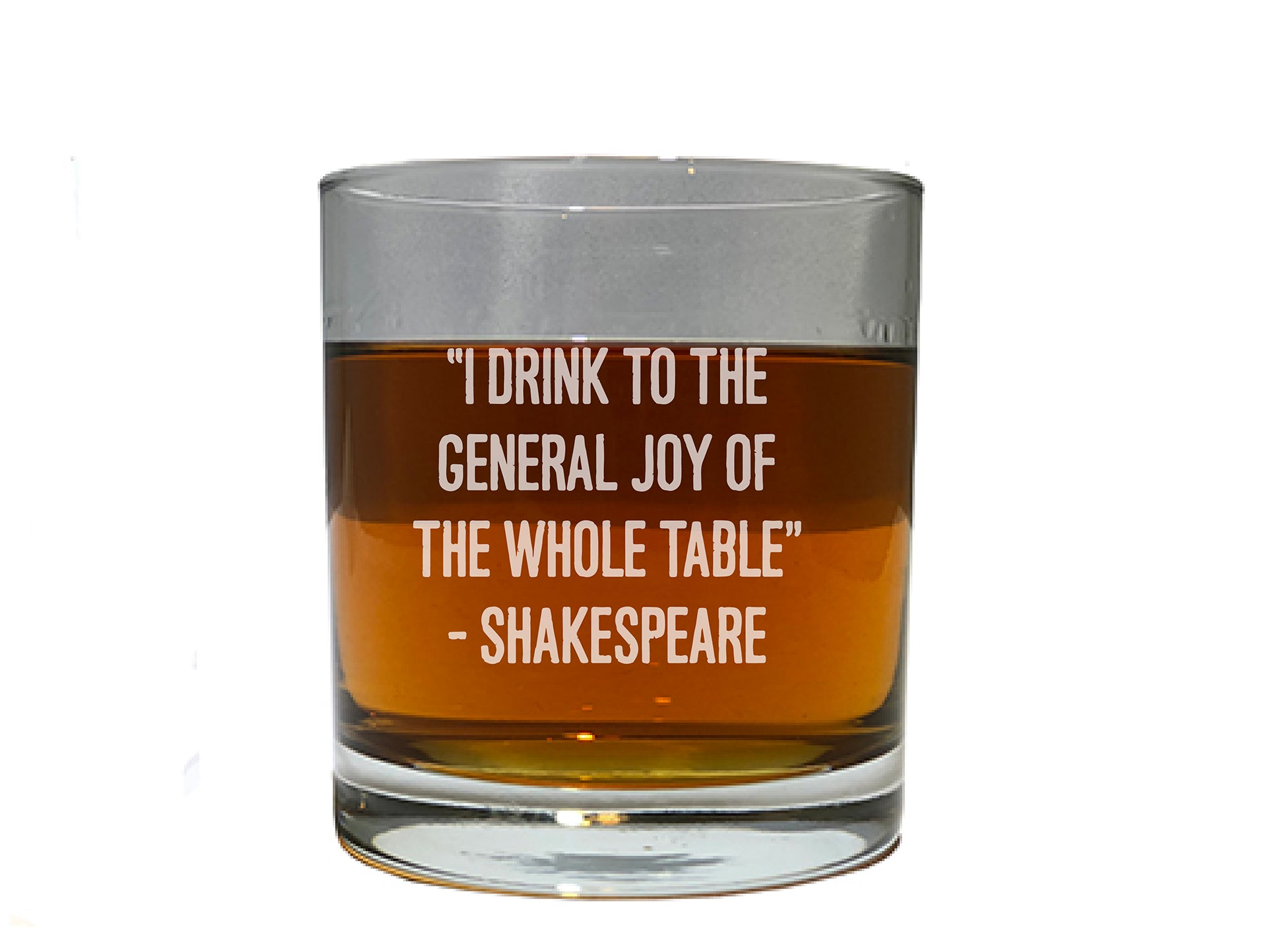 Whiskey Glass With Shakespeare quote from Macbeth