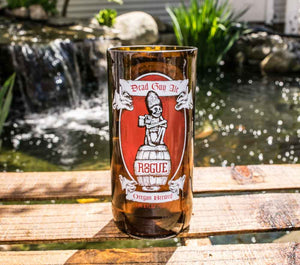Rogue Ales Brewing Company Dead Man's Ale Recycled Beer Bottle Drinking Glass