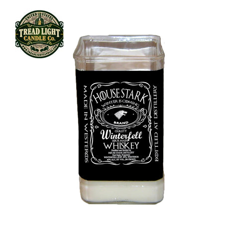 Game of Thrones Candle made from upcycled jack daniels bottle