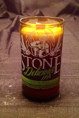 Stone Brewing Company Delicious IPA Beer Bottle Candle