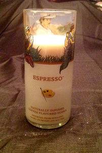 Van Gogh Espresso Vodka Liquor Bottle Candle