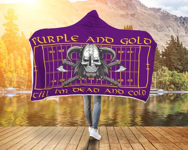 Hooded Sherpa Blanket made only for the faithful of the Purple and Gold.....