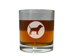 Dog Lover Gift (Beagle) - Dog Breed beer wine and whiskey glasses(all breeds available)
