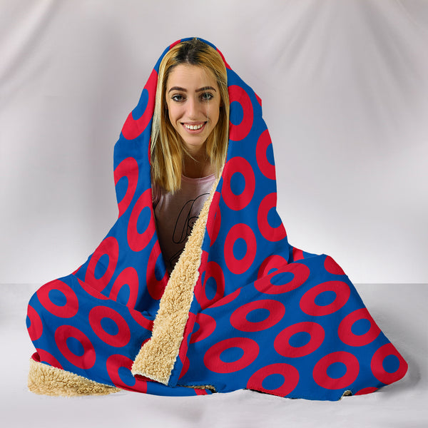 Phish Inspired Fishman Donuts Theme Hooded Blanket