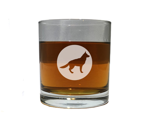 Dog Lover Gift (German Shepherd) - Dog Breed beer wine and whiskey glasses(all breeds available)