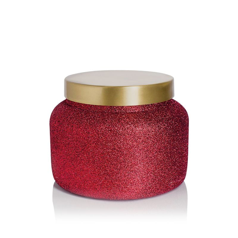 Capri Blue Red Glitter Volcano Signature Jar 19 oz Candle