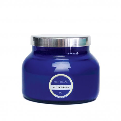 CANDLES - Petite Blue Jar Aloha Orchid 8 Oz Candle