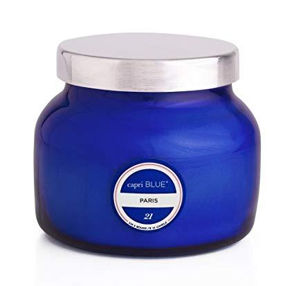 CANDLES - Petite Blue Jar Paris 8 Oz Candle