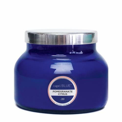 CANDLES - Petite Blue Jar Pomegranate 8 Oz Candle