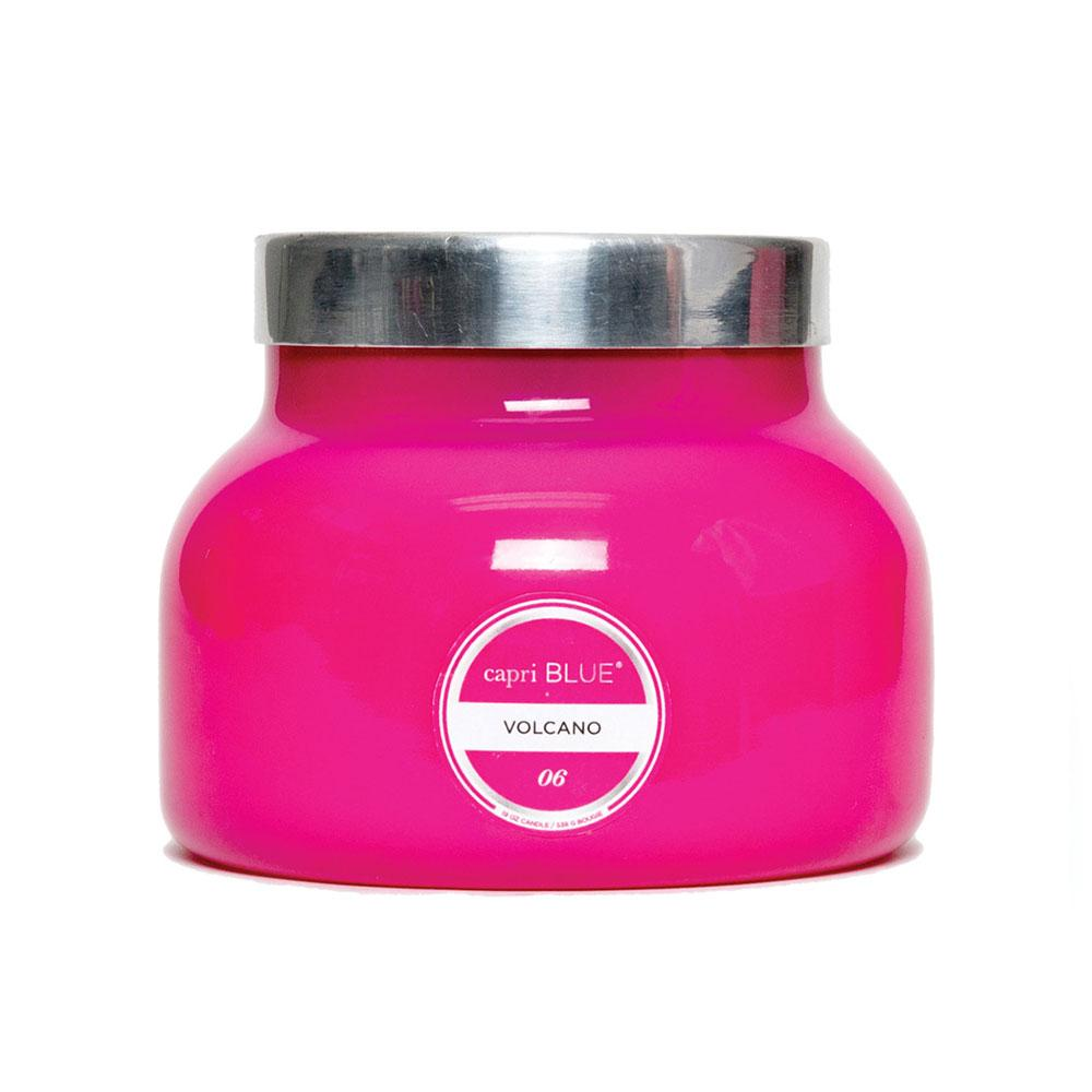 CANDLES - Petite Pink Jar Volcano 8 Oz Candle