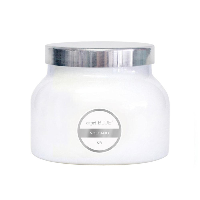 CANDLES - Petite White Jar Volcano 8 Oz Candle