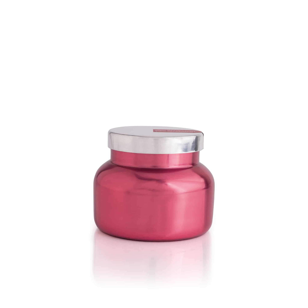 CANDLES - Pink Peppermint Metallic Pink Petite Jar, 8 Oz