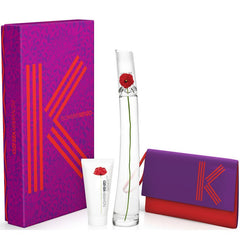 GIFT SETS - Flowers By Kenzo 1.7 Oz EDP 3 Piece Gift Set For Woman