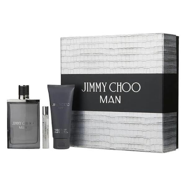 Jimmy Choo 3.3 oz EDT 3 Piece Gift Set for men