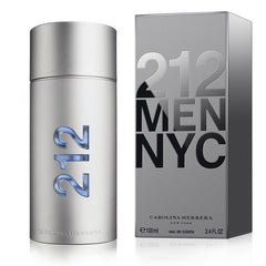 212 3.4 oz EDT for men  CAROLINA HERRERA MENS FRAGRANCES - LaBellePerfumes